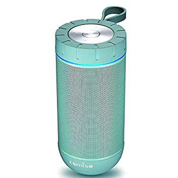 COMISO Waterproof Bluetooth Speakers Outdoor Wireless Portable Speaker with 24 Hours Playtime Superior Sound for Camping Beach Sports Pool Party Shower  Mint