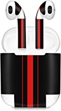 kwmobile Set of Stickers for Apple AirPods - 7X Apple Earphones Sticker Adhesive Decal Skin - Red/Black