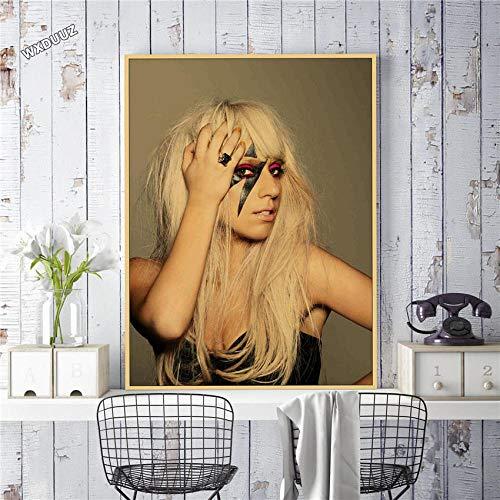YWOHP Estilo Retro Art Deco Elegante Mujer Estrella Música Cantante Póster Clásico TV Art Deco Decoración del hogar Póster Lienzo Pintura-35_X_50_cm_No_Frame_19