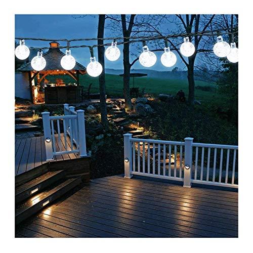 ZXYY Solar Garden Lights Outdoor Solar String Lights Waterproof Outdoor Fairy Lights Globe for Garden, Patio, Yard, Home, Party, Wedding,WarmWhite