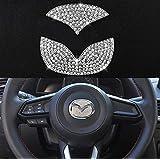 TopDall Steering Wheel Bling Crystal Shiny Diamond Accessory Interior Sticker for Mazda