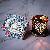 Dukhni Bakhoor – Oud Al Raghbah - Set of 2 Premium BAKHOOR Incense - 9 Pieces in Each Box with Persian Exotic BAKHOOR Burner. Perfect for Indoors, Meditation, Relaxation, Unwinding, Chanting, Peace