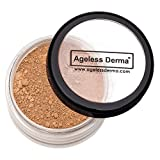 Ageless Derma Mineral Face Powder Foundation Makeup. Natural Loose Foundation with Vitamin and Green Tea. Made in USA