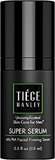 Tiege Hanley Morning and Night Facial Firming Serum for Men (SUPER SERUM)| Sodium Hyaluronate and Retinyl Palmitate for Ti...