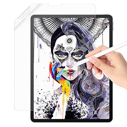 [Upgrad] Paper Screen Protector Compatible with iPad Pro 11'(2018&2020)&Apple Pencil, Support Face ID, Write Like on Paper Automatic Adsorbed with No Bubbles,Anti-Glare Matte PET Film-11inch
