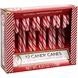 Greenbrier (1) Box Candy Canes - Natural Peppermint Flavor Red & White Stripes - 12 Individually Wrapped Pieces per Box - Holiday & Christmas Candy - Net Wt. 4.23 oz