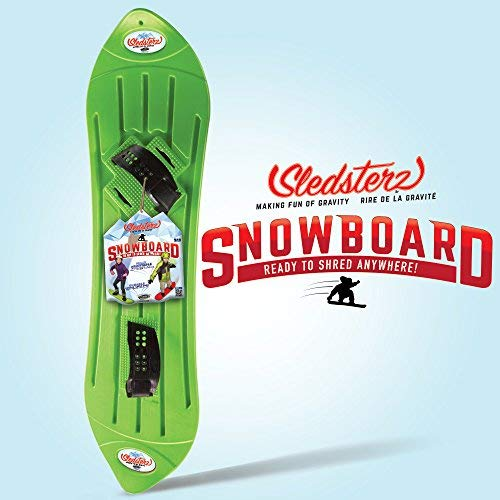 Sledsterz The Original Kids' Snowboard by Geospace in Green