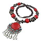 LUFA Collar de la aleación del collar largo cristalino de la resina del estilo de Bohemia de las mujeres para el partido