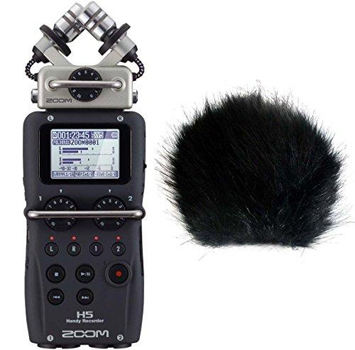 Zoom H5 Handy Recorder + keepdrum Fell-Windschutz WSBK