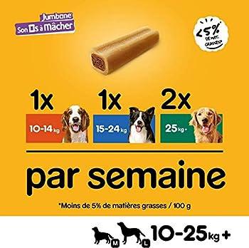 PEDIGREE Son Os à Mâcher Medium - Récompenses pour moyen chien, 24 friandises (12 sachets de 2 os de 180g)