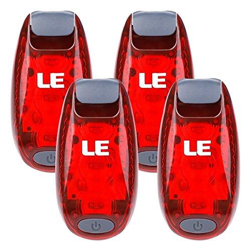 LE LED Safety Light(4 Pack), Clip on Strobe/Running/Collar Lights