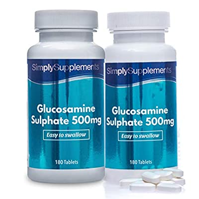 Easy to Swallow Glucosamine 500mg | Active Lifestyle Support | 2X 180 Tablets | 100% Money Back Guarantee | Manufactured in The UK