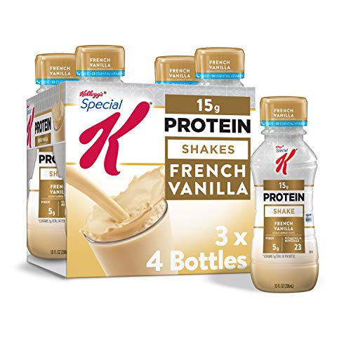 Kellogg's Special K French Vanilla Protein Shakes - Meal Replacement, Gym Food, Pack of 3 (12 Count)