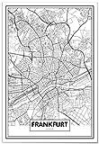 Panorama Poster Karte von Frankfurt 50 x 70 cm - Gedruckt