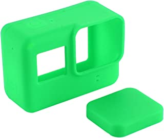 Redcolourful f/or PUL/UZ Soft Silicone Camera Protective Case with Lens Cap Cover for Gopro Hero 7 Black Green