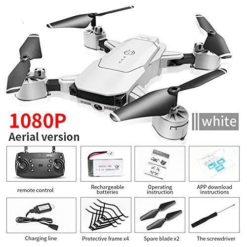 Faltbare RC Mini Drohne Mit Höhenhalt Und Kopflosem Modus,2.4 Ghz 6-Achsen Quadcopter Drohne 1080P Kamera Mit 5 Millionen Pixel WiFi Gesten Kamera,Sprachfernbedienung Drohne,Fun Toys Kinder,Weiß