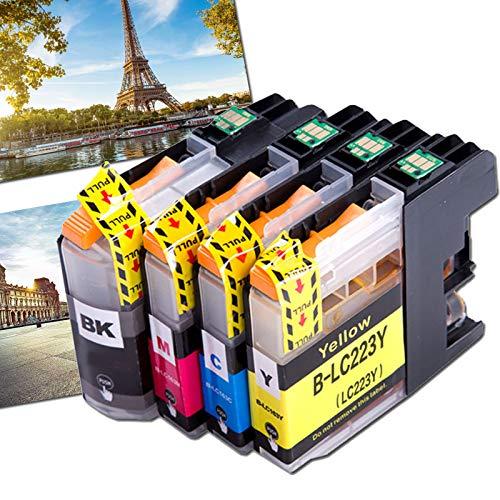 OGOUGUAN 4 LC223 - Cartuchos de tinta compatibles con Brother DCP-J562DW MFC-J4120DW J5320DW J880DW J5620DW J5625DW J680DW J4625DW J5720DW J4420DW J4620DW J480DW