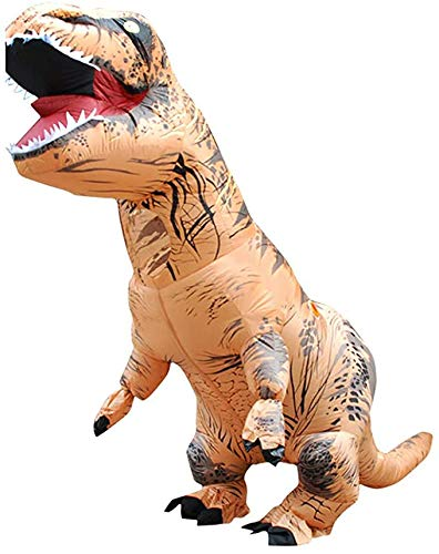 Echden Kostüm Aufblasbare Kostüme Tyrannosaurus Anzug Dinosaurier Kostüm Erwachsene Karneval Party Dino Kostüm Männer Frauen(Erwachsene)