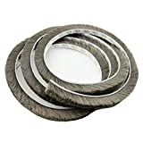 T&B 196.9 Inch Self-Adhesive Pile Weatherstrip for Windows & Doors 3/8-Inch x 1/8-Inch x 16.5ft Grey 5m (16.5ft)