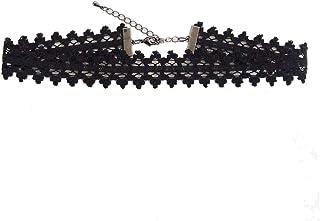 レース ブラック シンプル リボン チョーカー レディース 黒