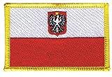 Flaggen Aufnäher Polen mit Adler Fahne Patch + gratis