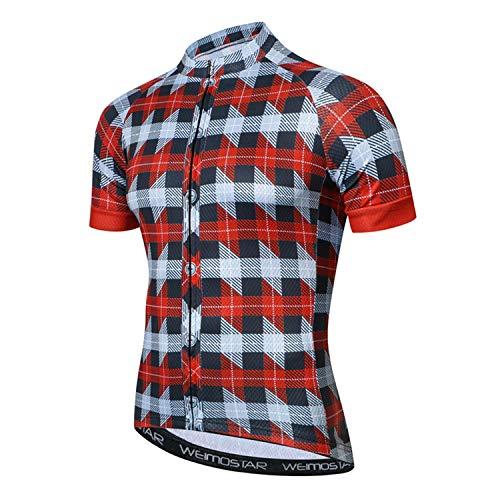 Weimostar PSPORT - Maillot de ciclismo para hombre con 3 bolsillos, Hombre,...