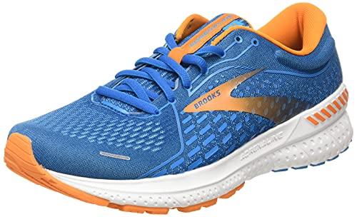 Brooks Adrenaline GTS 21, Zapatillas para Correr Hombre, Vivid Blue Orange White, 43 EU