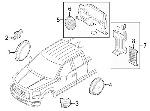 Read About Ford Oem Speaker Fl3z18808a Image 1