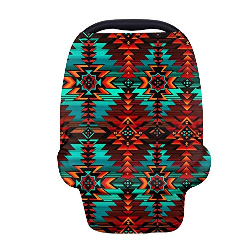 chaqlin Tribal Style Stroller Cover Privacy Nursing Cover Baby Carseat Canopy High Chair Cover Nursery Cover Breastfeeding Scarf for Boys and Girls