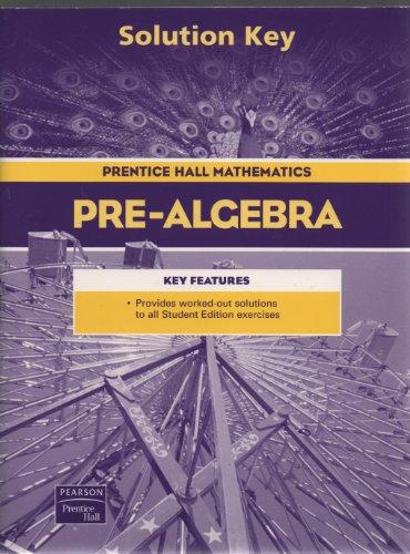 Prentice Hall Pre-Algebra Solution Key