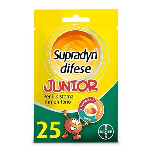 Supradyn Difese Junior Gusti Di Fragola, Arancia E Papaya Integratore Multivitaminico Per Le Difese Immunitarie Dei Bambini 25 Caramelle Gommose - 40 g