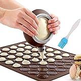 Macaron Molde - Macaron Silicone Baking Mat con 48 Capacidad, decorating Pen Icing Tips (4...