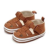 Sawimlgy Baby Girls Boys Sandals Summer Flower Dress Shoe Canvas Sneaker Soft Sole PU Leather Infant Toddler First Walkers Cribing Shoes