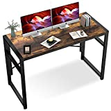 Accenter Modern Writing Computer Desk, 39.4' Folding Laptop Table for Home Office, Study No Tools Desk with Black Thickened Metal Base