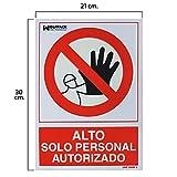 WOLFPACK LINEA PROFESIONAL 15050522 Cartel Alto Acceso Solo Personal Autorizado, 30 x 21 cm