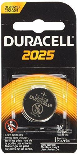 4 (2x2) Duracell CR2025 3V BATTERIES