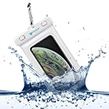 Power Theory Floating Waterproof Phone Case - 6 Inch IPX8 Certified Universal Dry Bag - Durable, Transparent Pouch for iPhone 6/6s plus, 5/5s, SE, Samsung Galaxy S7, Edge, S6, S5, Note 5, 4, HTC, Huawei & other Smartphones (White)