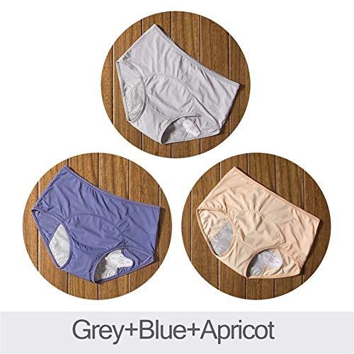Ybqy 3 stuks lekbestendige menstruatie-slipper fysiologische broeken vrouwen ondergoed periode katoen waterdicht brieven Dropshipping