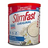 SlimFast – Original Meal Replacement Shake Mix Powder – Weight Loss Shake – 10g of Protein – 24 Vitamins and Minerals Per Serving – Great Taste – 12.83 oz. – French Vanilla