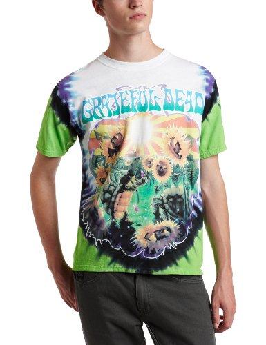 Liquid Blue Men's Grateful Dead Sunflower Terrapin Tie Dye T-Shirt, Multi, Large