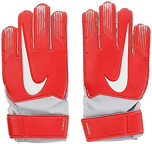 Nike Match, Guanti da Portiere Bambini, Light Crimson/Grigio Lupo/(Pure Platinum), 8 (11.5-12 cm)
