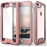 ZIZO ION Series Compatible with iPhone 8 Plus Case Military Grade Drop Tested with Tempered Glass Screen Protector iPhone 7 Plus 6s Plus Rosegold Clear