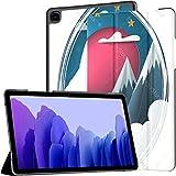 Funda para Samsung Galaxy Tab A7 Tablet de 10,4 Pulgadas 2020 (sm-t500 / t505 / t507), Origami Wolf Cartoon Paper Landscape Vector Cubierta de Soporte de múltiples ángulos con Auto Wake/Sleep