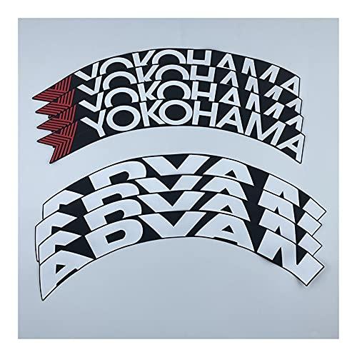 Etiquetas engomadas de las rayas de las llantas Pegatina de neumáticos de letras de goma Etiqueta de rueda de neumáticos de coches Universal Fit 3D Logo Auto Motocicleta Neumáticos Pegatinas Ruedas Et