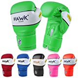 Hawk Sports Kids Boxing Gloves for Kids Children Youth Punching Bag Kickboxing Muay Thai Mitts MMA Training Sparring Gloves (Green, 6 oz)