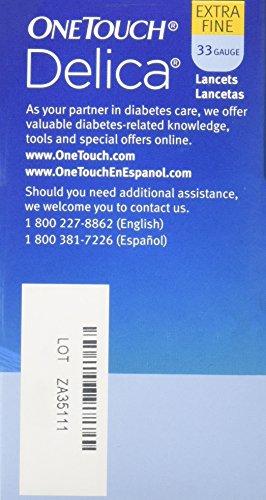 buy  Lifescan Onetouch Delica Lancets, 33 Gauge, 100 ... Diabetes Care