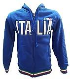 BrolloGroup Felpa Uomo con Cappuccio Italia Turistica Azzurra o Grigia PS 32587 (M, Blu)