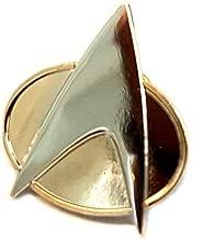 Mainly Metal Gold Plated Pin Badge TNG Star Trek Next Generation Communicator (25mm)
