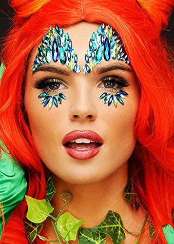 Atemberaubende Poison Ivy Green Face Juwelen Make-up