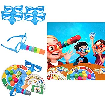 """Fibber Board Game Set Family Fun """"Liar"""" Game Set Includes Funny Glasses and Cards Growing Nose Interesting Parent-Child Interactive Toys for Kids & Adults"""